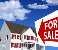 Home House FOR SALE Sign Royalty Free Stock Image