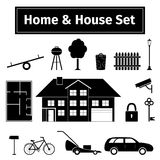 Home and house set Royalty Free Stock Image