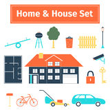 Home and house set Royalty Free Stock Photo