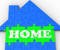 Home House Shows Residential Property. Home House Showing Residential Family Property Ownership Stock Photo