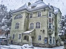 Home, House, Snow, Property Royalty Free Stock Photo