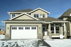 home husförsäljningsvinter Arkivfoto