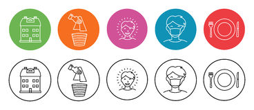 Home and Hygiene Icons Royalty Free Stock Image