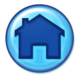 Home Icon. Home Web Icon in blue stock illustration