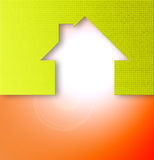 Home icon. Home abstract icon with color and texture Royalty Free Stock Photos