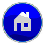 Home icon. Vector illustration of a glossy icon of a house Stock Image