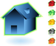 Home Icon. Set of home icon buttons Royalty Free Stock Photography