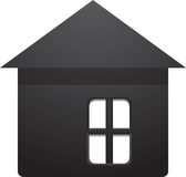 Home icon. Black home icon vector draw royalty free stock photos