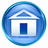 Home icon blue Stock Photography
