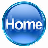 Home icon blue Royalty Free Stock Photo