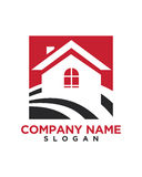 Home icon button 1 business insurance abstract Royalty Free Stock Image