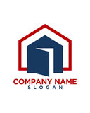 Home icon button 2 business insurance abstract Stock Photos
