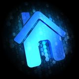 Home Icon on Digital Background. Royalty Free Stock Photo