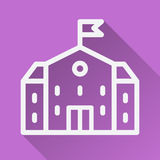 Home Icon. house flat with shadow illustration on the purple background vector illustration