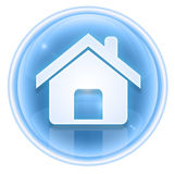 Home icon ice, Stock Image