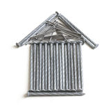 Home Icon Made of Nails Royalty Free Stock Images