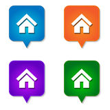 Home icon 4 options Royalty Free Stock Photos