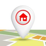 Home Icon Pin Stock Photo