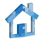 Home icon in puzzle Royalty Free Stock Photography