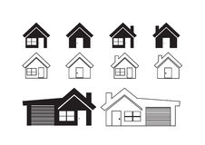 Home icon and Real estate concept Stock Images