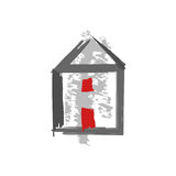 Home icon , restructuration vector isolated. Home icon , symbol restructuration vector isolated Royalty Free Stock Images