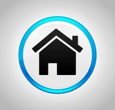 Home icon round blue push button. Home icon isolated on round blue push button royalty free illustration