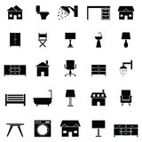 Home icon set Stock Images