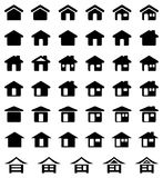 Home Icon Set Royalty Free Stock Photography