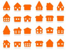 Home icon set royalty free illustration