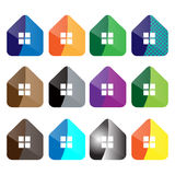 Home icon. Set of vector home icon, colorful Royalty Free Stock Images
