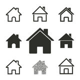 Home icon set. Home vector icons set. Illustration isolated for graphic and web design royalty free illustration