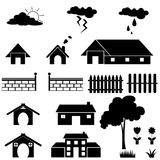 Home icon set Stock Photos