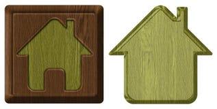 Home icon, tag Stock Photo