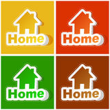 Home icon. Royalty Free Stock Photos