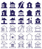 Home icon on white background Stock Image