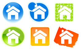 Home icons Stock Photo