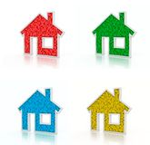 Home Icons Royalty Free Stock Images