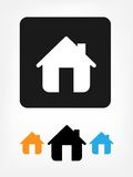 Home icons. 3 different color Home icons Royalty Free Stock Photos