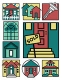 Home Icons Collection 2 Stock Image