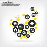Home icons concepts Royalty Free Stock Photos