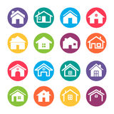 Home Icons Design Elements Royalty Free Stock Photography
