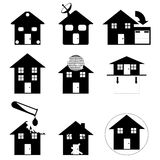 Home icons family Royalty Free Stock Photography