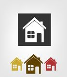 Home icons. This is file of EPS10 format Royalty Free Stock Images