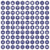 100 home icons hexagon purple. 100 home icons set in purple hexagon isolated vector illustration vector illustration