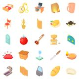 At home icons set, cartoon style Royalty Free Stock Images