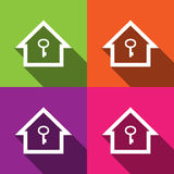 Home icons set great for any use. Vector EPS10. Royalty Free Stock Photos