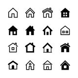 Home icons set, Homepage - website or real estate symbol. Vector illustration Stock Photography