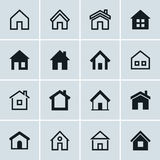 Home icons set, Homepage - website or real estate symbol. Vector illustration Stock Image