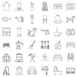 Home icons set, outline style. Home icons set. Outline style of 36 home vector icons for web isolated on white background Royalty Free Stock Image