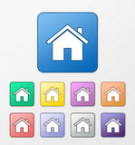 Home icons set Royalty Free Stock Image